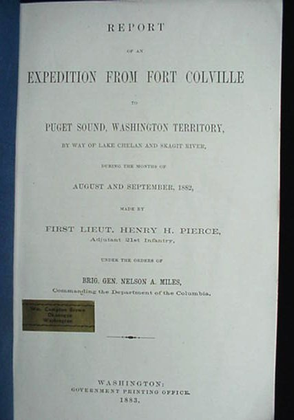 Rare 1883 Washington Territory Military Expedition Book Indian Maps Survey +More