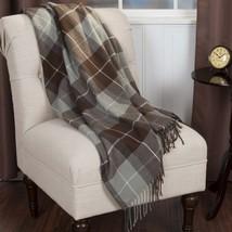 Somerset Home Cashmere-Like Blanket Throw-Brown/Plaid Blanket/Acrylic Ma... - $39.77