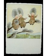 Ars Sacra Pussy Willow Fairy Babies Post Card Germany - $12.00
