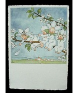Antique Ars Sacra Flower Fairy Babies Post Card Germany - $12.00