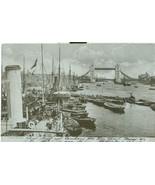 United Kingdom, London, Tower Bridge, 1904 used real photo Postcard  - $6.75