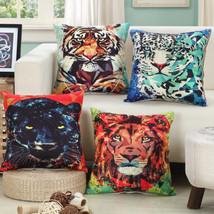 """18""""Cushion Cover Throw Pillow Case Linen Sofa Car Chair Art Animal Series Decor - $3.72"""