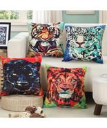 """18""""Cushion Cover Throw Pillow Case Linen Sofa Car Chair Art Animal Serie... - $3.72+"""