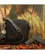 Concealed Carry Microfiber Black Crocodile Crossbody Handbag Purse - $217.99