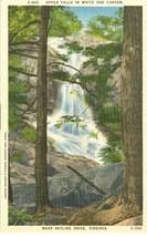Upper Falls in White Oak Canyon, Near Skyline Drive, Virginia, linen Pos... - $3.99