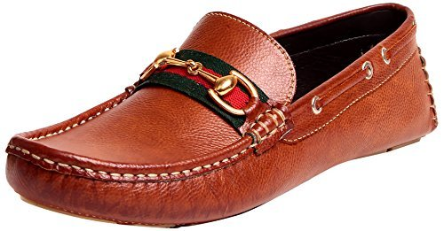 Primary image for Tag 7 Men's Tan Leather Loafers 6 Tan