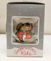"Undercover Kids Satin Christmas Tree Ornament 3"" Original Box - $4.99"