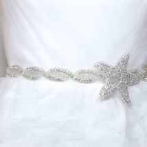 Star Starfish Diamante Bridal Rhinestone Crystal Belt Wedding Sash Acces... - $19.79+