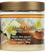 1 Count Dead Sea Collection 23.28 Oz Almond Vanilla Oils Dead Sea Salt S... - $16.99