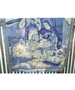 Pictoral Throw Blanket/Wall Hanging -Nativity Scene In Like New Conditio... - $16.99