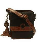 Concealed Carry Microfiber Brown Trim Crossbody Handbag Purse - $217.99