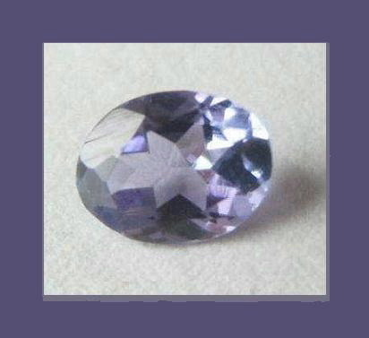 Genuine Blue Purple 0.63ct TANZANITE Oval Natural Gemstone