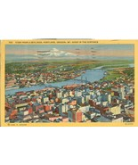 View from a skyliner, Portland, Oregon, Mt. Hood in the Distance, postcard - $5.99
