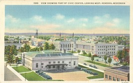 View showing part of Civic Center, looking West, Kenosha, Wisconsin, postcard - $5.99