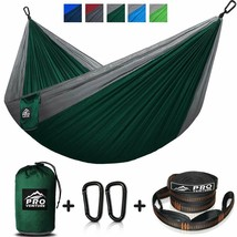 Double And Single Camping Hammocks - Hammock With Free Premium Straps  C... - $39.59