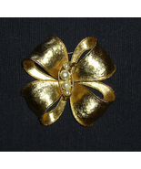 Gold Bow and Pearl Pin C1970s - $5.00
