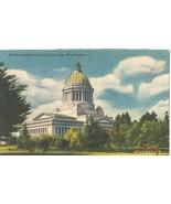 Washington State Capitol, Olympia, Washington, 1954 used linen Postcard  - $4.99