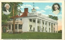 Washington's Mansion, Mount Vernon, VA, 1910s-1920s unused Postcard  - $3.99