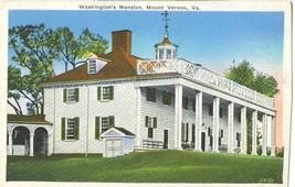 Washington's Mansion, Mount Vernon, VA, 1935 used Postcard  - $3.99