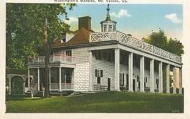 Washington's Mansion, Mt. Vernon, Va, 1920s unused Postcard  - $3.50