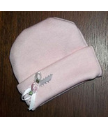 Preemie & Newborn Pink Rose & White Ribbon Hat  - $10.00