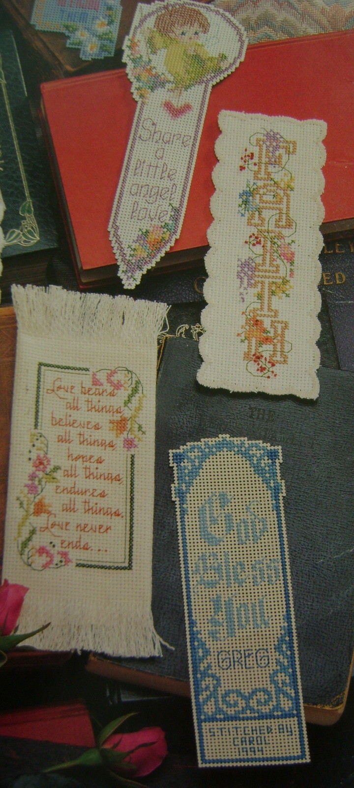 Pattern Kit Bookmarks - 2 Books Bookmarks & Samplers, 6 Packages Aida Cloth image 2
