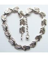 Vintage Napier Necklace Sterling Silver Floral ... - $135.00