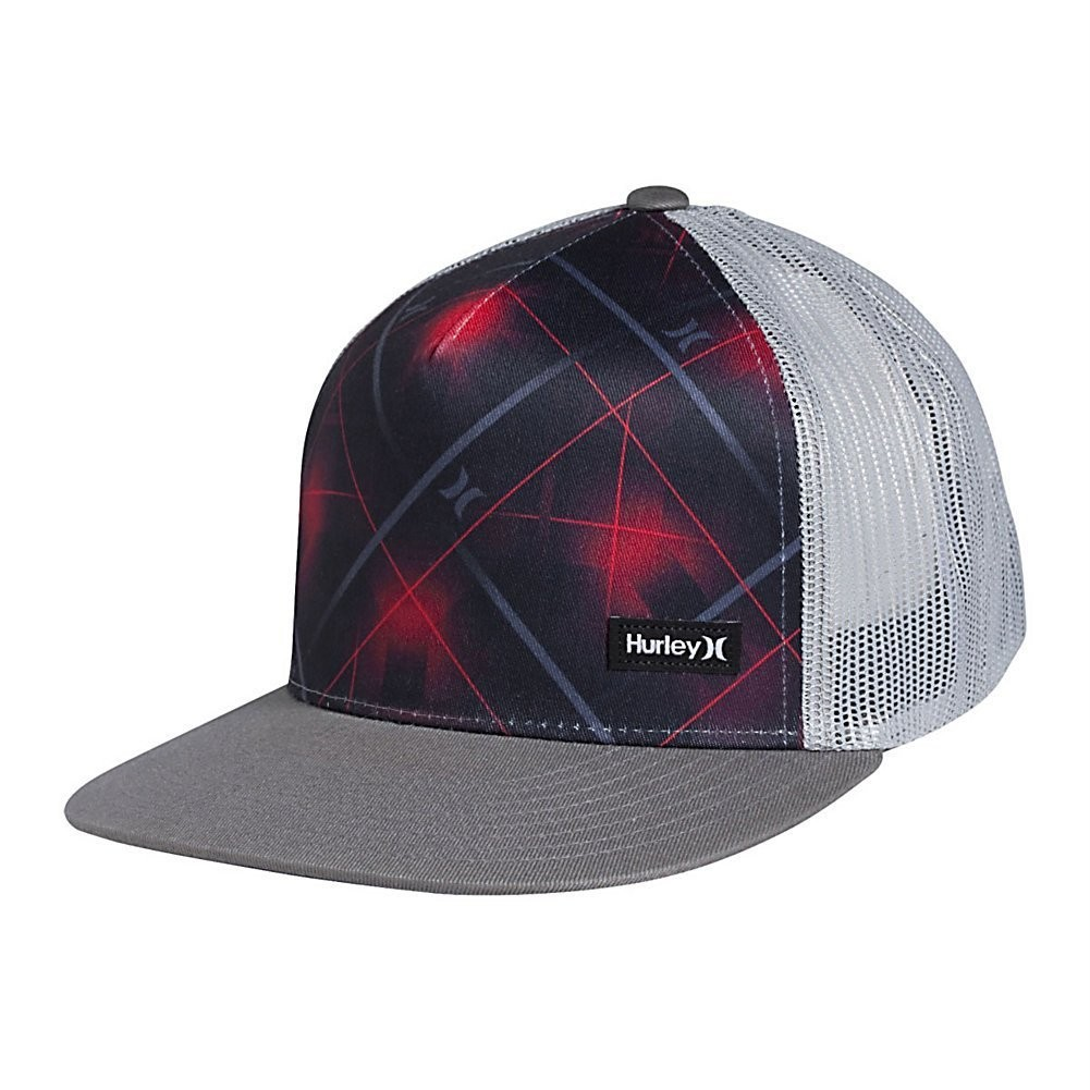 2ce31a84a0d MEN S GUYS HURLEY RED LASER POINTER TRUCKER GRAY BASEBALL CAP HAT NEW  30 -   18.99