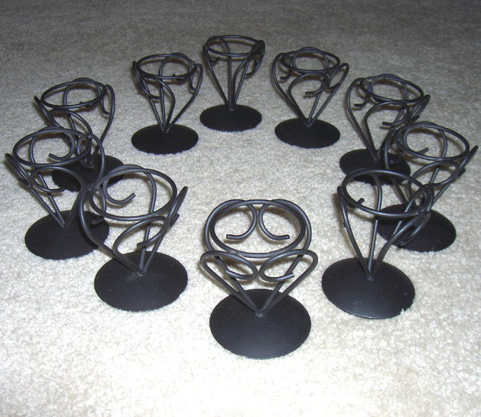Candle Holders 10 Wrought Iron-look Holders