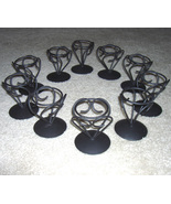 Candle Holders 10 Wrought Iron-look Holders - $9.00