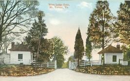 West Lodge Gate, Mt. Vernon, VA, early 1900s unused Postcard  - $5.99