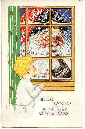 Hello Santa vintage 1932 Post Card