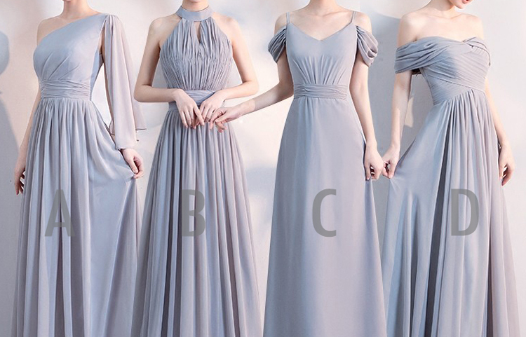 Gray bridesmaid dress 2