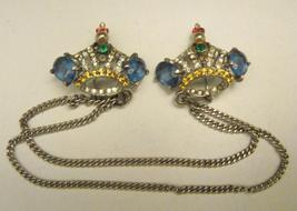 CROWN STERLING SWEATER PINS - $90.00