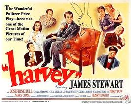 Harvey Poster 11 X14 Inches Lobby Card James Stewart Jimmy Rabbit Pookah - $24.99