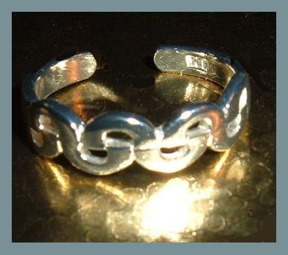 Sterling Silver Braided Design Toe Ring