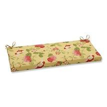 Pillow Perfect Indoor/Outdoor Risa Bench Cushion, Lemonade - £29.97 GBP