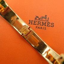 Authentic Hermes Navy Blue Enamel Gold H Clic-Clac Bracelet PM RARE image 8