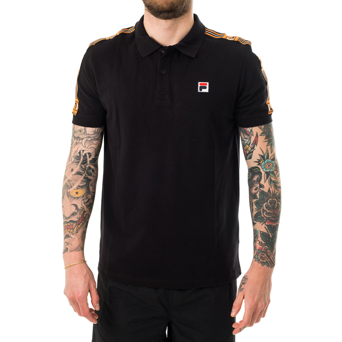 Primary image for POLO UOMO FILA MEN HAGOP POLO SHIRT 687645.002  Nero