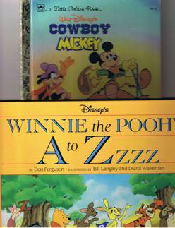 Winnie the Pooh, Monsters Inc., Mickey Mouse & More Children Books - Total of 6