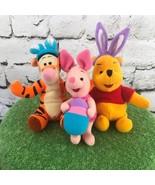 Disney Winnie The Pooh Easter Lot 3Pc Mini Plush Tiger Piglet Mattel 1998 - $19.79