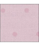 28ct Pink Opalescent Sparkle with Dark Pink Dots evenweave 35x38 cross s... - $71.10