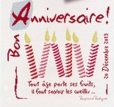 Bon Anniversaire (Happy Birthday) cross stitch chart Lili Points - $11.70