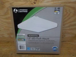 Lithonia Lighting FMLSDL 15 21840 M4 15W Fluorescent Flush Mount, White - $35.00