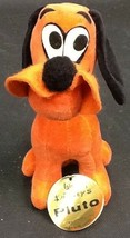 Vintage Walt Disneys Stuffed Pluto Wood By Product With Tag - $19.99