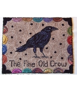 The Fine Old Crow Punchneedle chart embroidery ... - $10.80