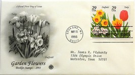 May 15, 1993 First Day of Issue, PC Society Cover, Garden Flowers Daffo/... - $3.14
