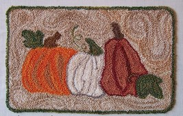 Autumn's Prize Punchneedle chart embroidery Three Sheep Studio - $10.80