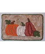 Autumn's Prize Punchneedle chart embroidery Three Sheep Studio - $10.80