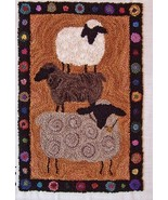 Farm Show Sheep Punchneedle chart embroidery Th... - $10.80